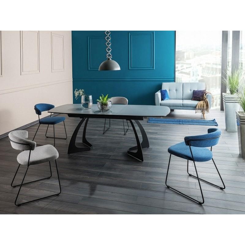Стол обеденный Signal Martinez Ceramic   Серый / черный