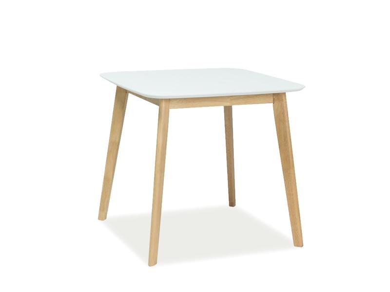 Стол обеденный Signal Mosso III | Белый / Дуб