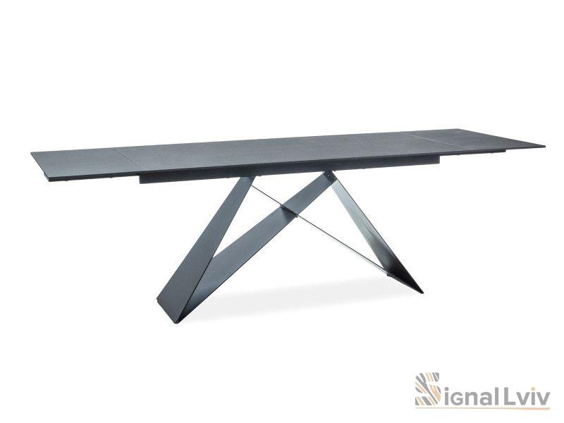 Стол обеденный Signal WESTIN 160 раскладной (черный матовый)