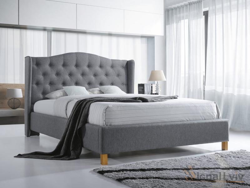 Кровать Aspen Velvet 180 фабрика Signal серый
