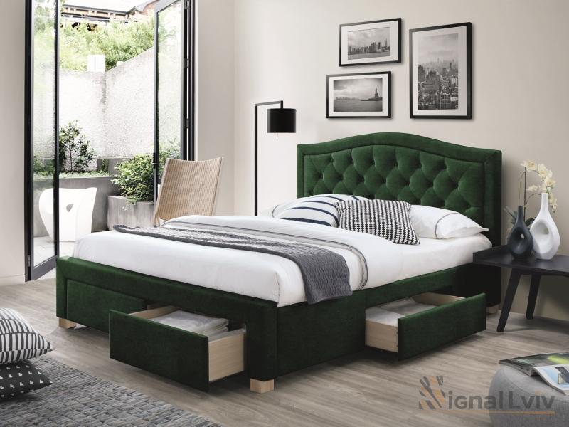 Кровать Electra 160 Velvet зеленый