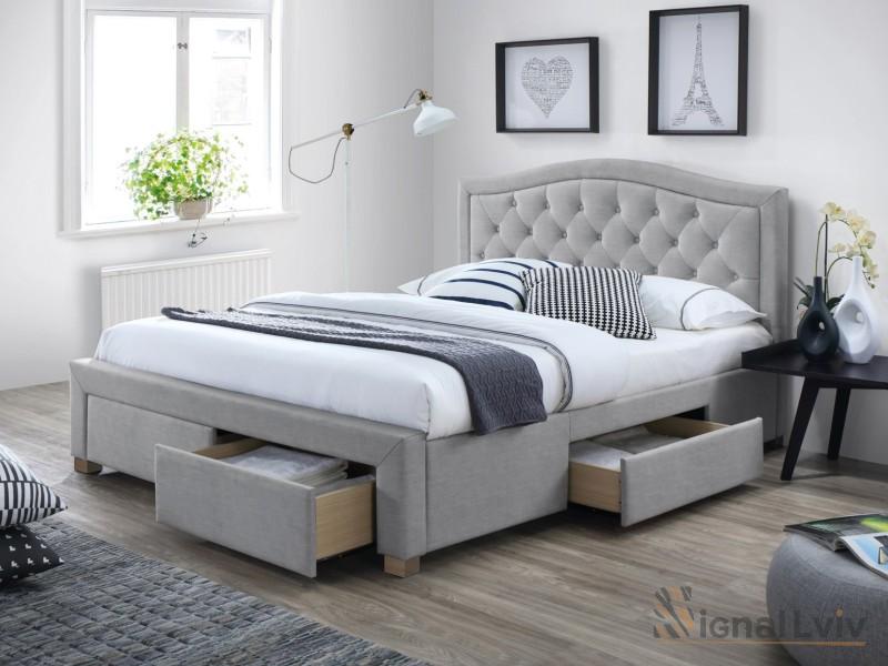 Кровать Electra 180 Signal серый
