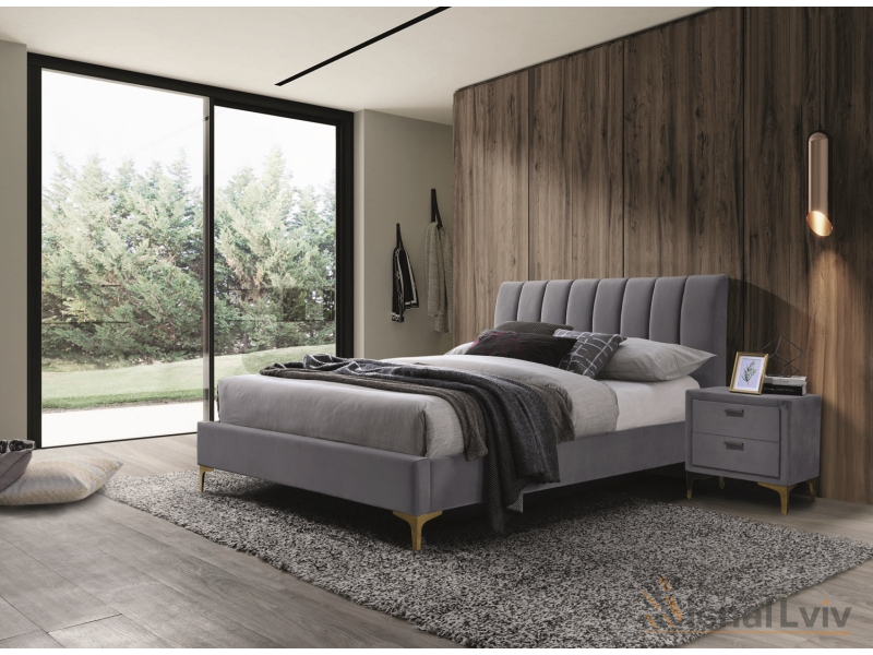 Кровать Mirage 160 Velvet Signal серый