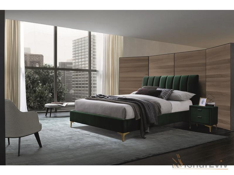 Кровать Mirage 160 Velvet Signal зеленый