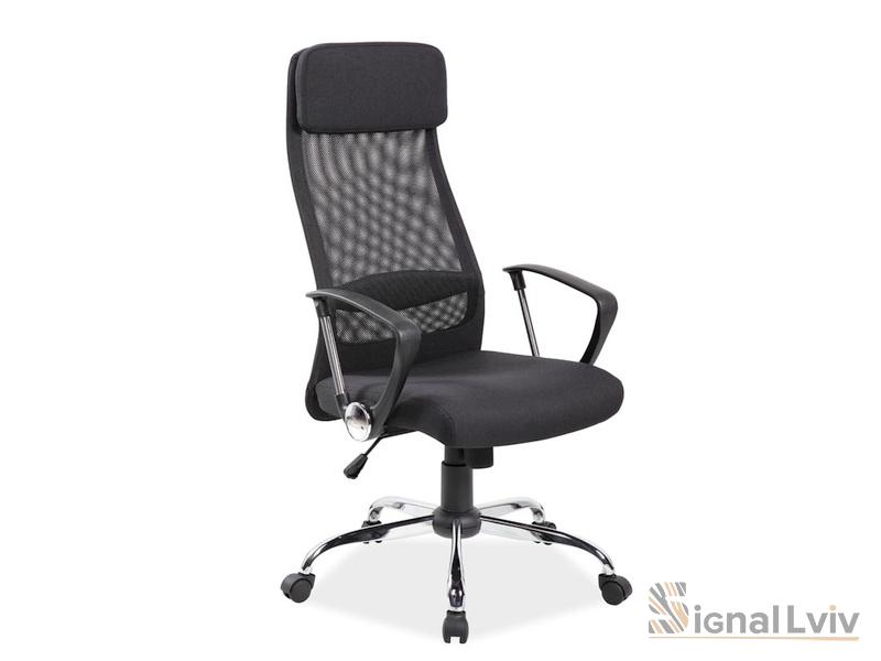Кресло офисное Q-345 фабрика Signal цвет черный