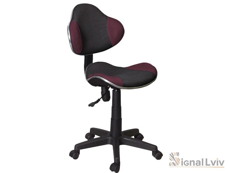 Кресло офисное Q-G2 ткань черно-фиолетовый цвет фабрика Signal