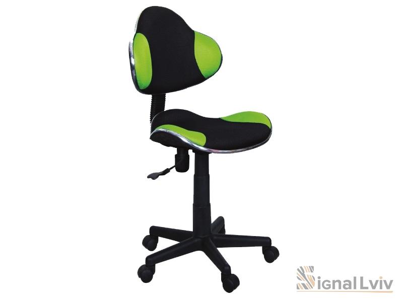 Кресло офисное Q-G2 ткань черно-зеленый цвет фабрика Signal