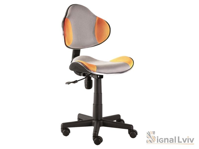 Кресло офисное Q-G2 ткань серо-оранжевый цвет фабрика Signal
