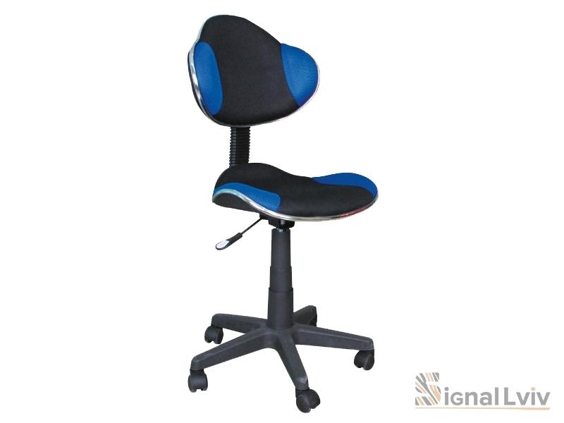 Кресло офисное Q-G2 ткань черно-синий цвет фабрика Signal
