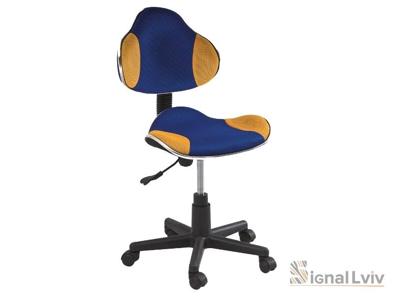 Кресло офисное Q-G2 ткань сине-желтый цвет фабрика Signal