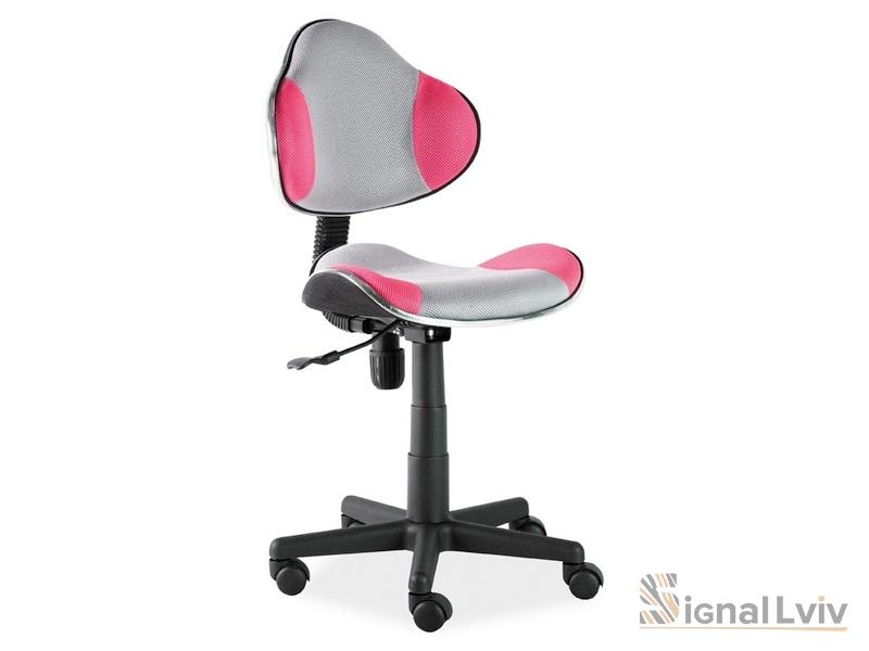 Кресло офисное Q-G2 ткань серый/розовый цвет фабрика Signal