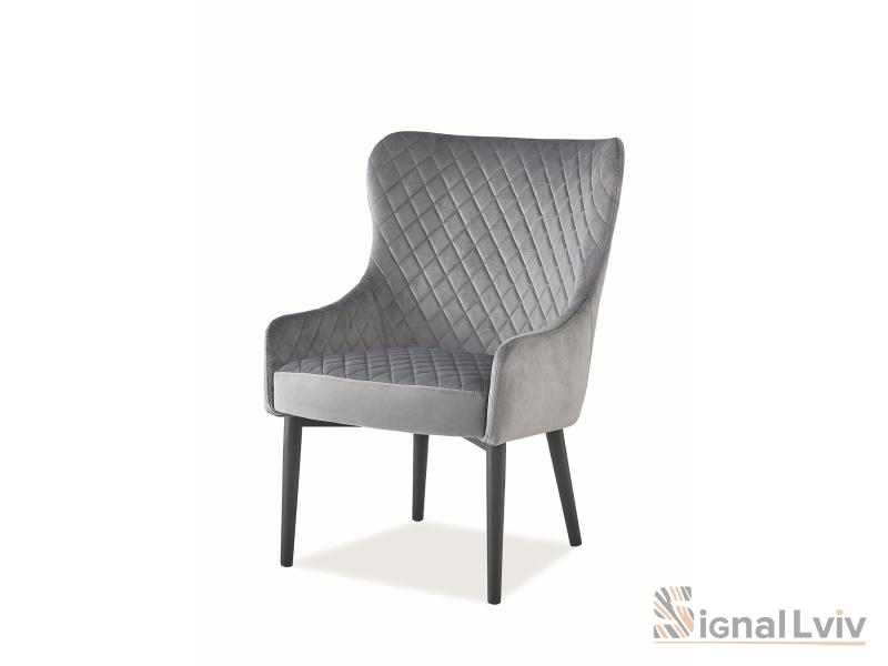 Кресло Colin F Velvet Signal цвет серый
