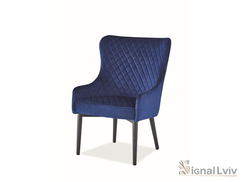 Кресло Colin F Velvet Signal цвет темно-синий