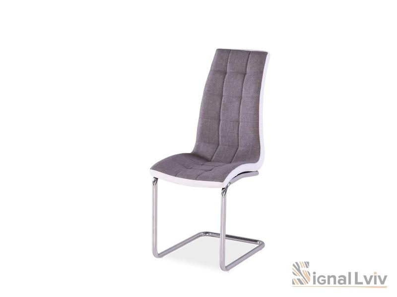 Кресло H-103 фабрика Signal хром цвет серый обивка ткань