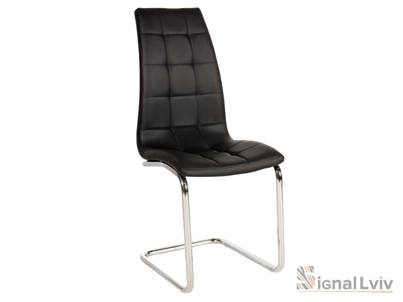Кресло H-103 фабрика Signal хром цвет черный обивка экокожа