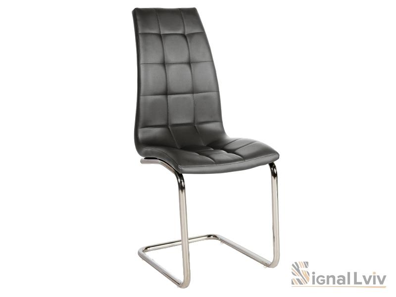 Кресло H-103 фабрика Signal хром цвет серый обивка экокожа