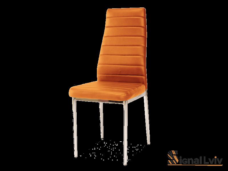 Стул металлический H-261,ножки хром,цвет оранжевый