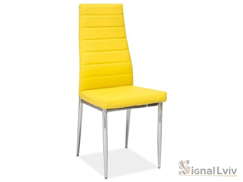 Стул металлический H-261,ножки хром,цвет жёлтый