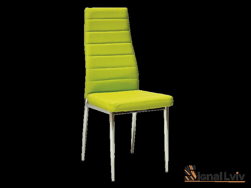Стул металлический H-261,ножки хром,цвет зелёный