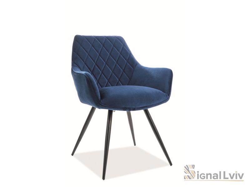 Кресло Linea Velvet Signal темно-синий