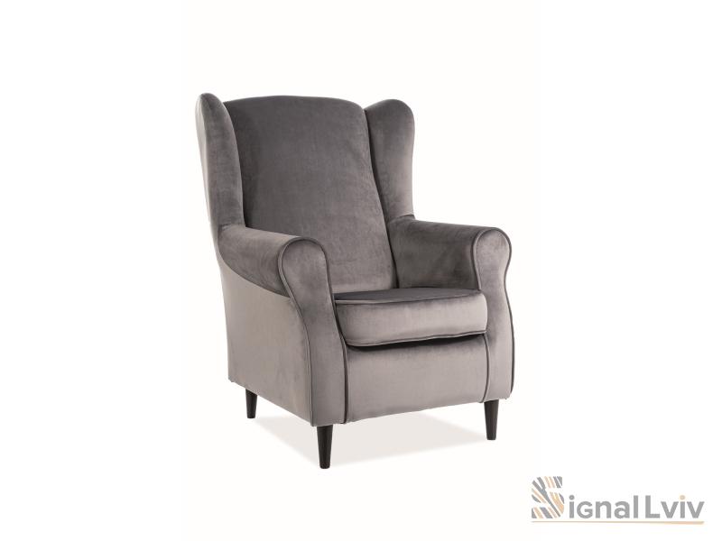 Кресло Baron Velvet Signal цвет серый
