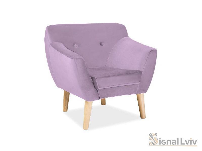 Кресло Bergen 1 velvet фабрика Signal (розовый)