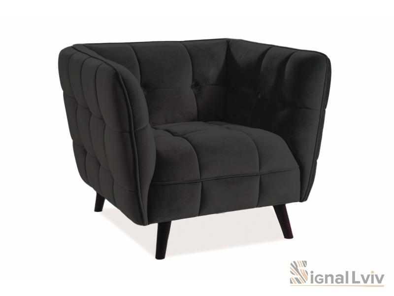 Кресло Castello 1 Velvet Signal цвет черный