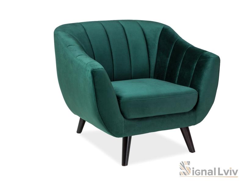 Кресло Elite Velvet 1 фабрика Signal (зеленый)