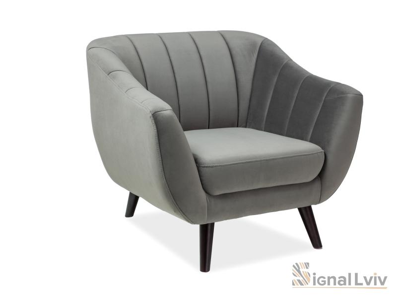 Кресло Elite Velvet 1 фабрика Signal (серый)