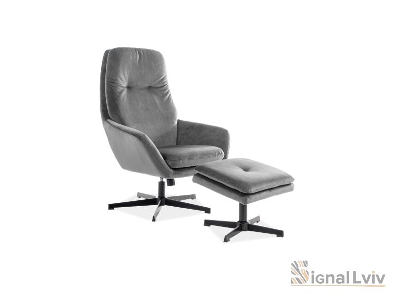Кресло Ford Velvet Signal цвет серый