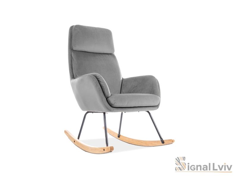 Кресло-качалка Hoover Velvet Signal цвет серый