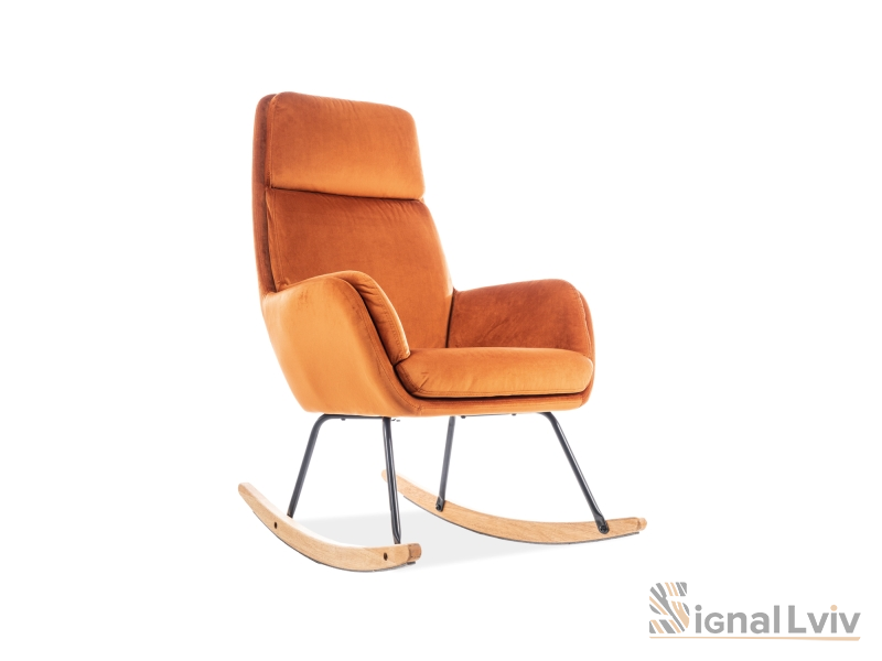 Кресло-качалка Hoover Velvet Signal цвет оранжевый