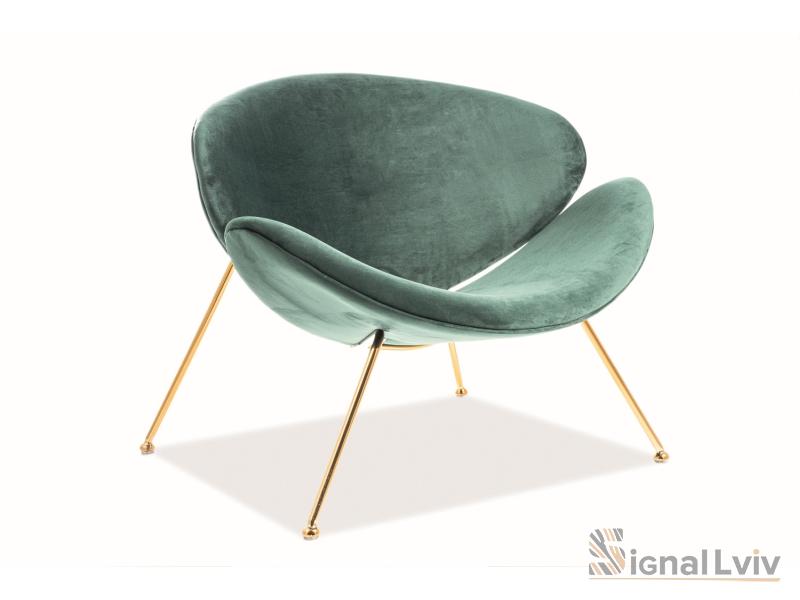 Кресло Major Velvet Signal złoty цвет зеленый