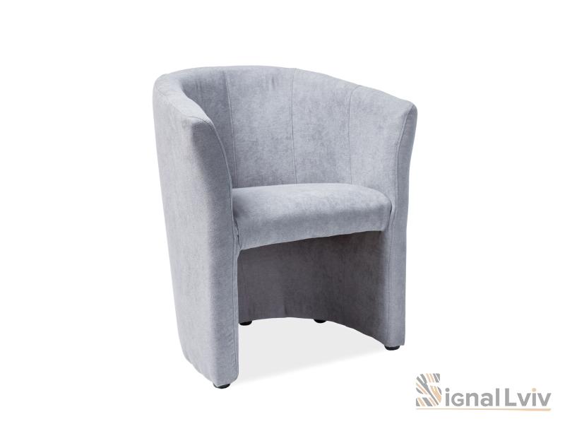 Кресло TM-1 ткань фабрика Signal светло-серый
