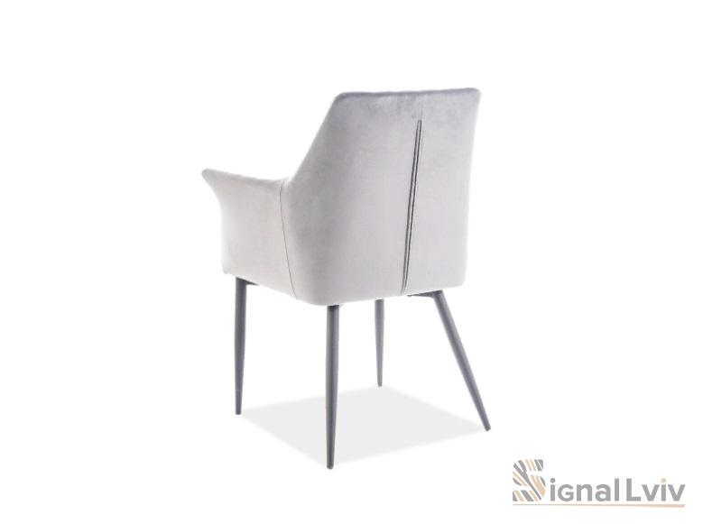 Кресло Sergio Velvet Signal серый