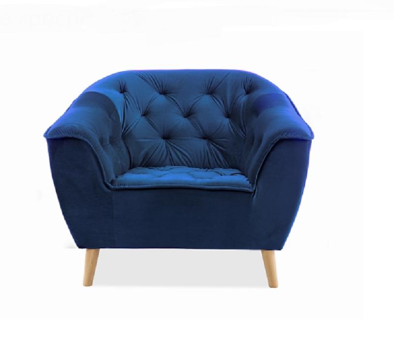 Кресло Galaxy 1 Velvet Signal цвет темно-синий