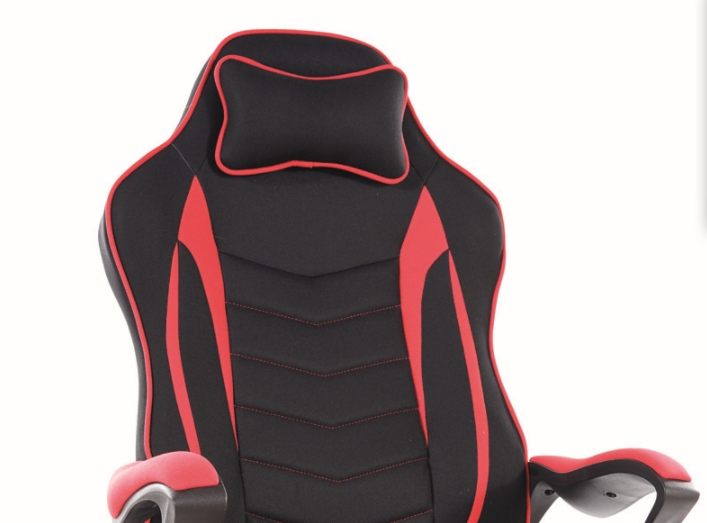 Кресло компьютерное Zenvo Signal красный/черный