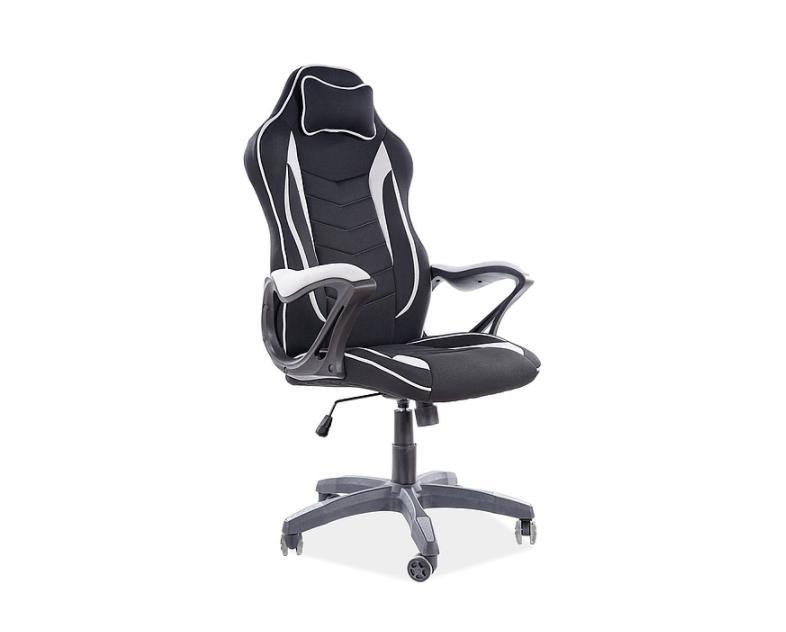 Кресло компьютерное Zenvo Signal черный/серый