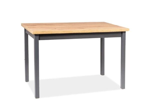 Стол деревянный Adam 60x100 цвет дуб ланселот + антрацит